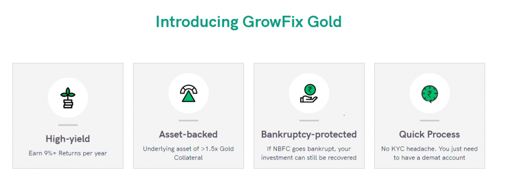 growfix gold loan pool
