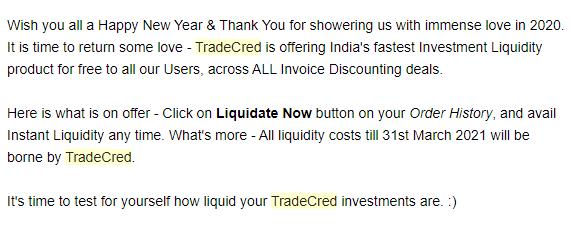 TradeCred liquidity