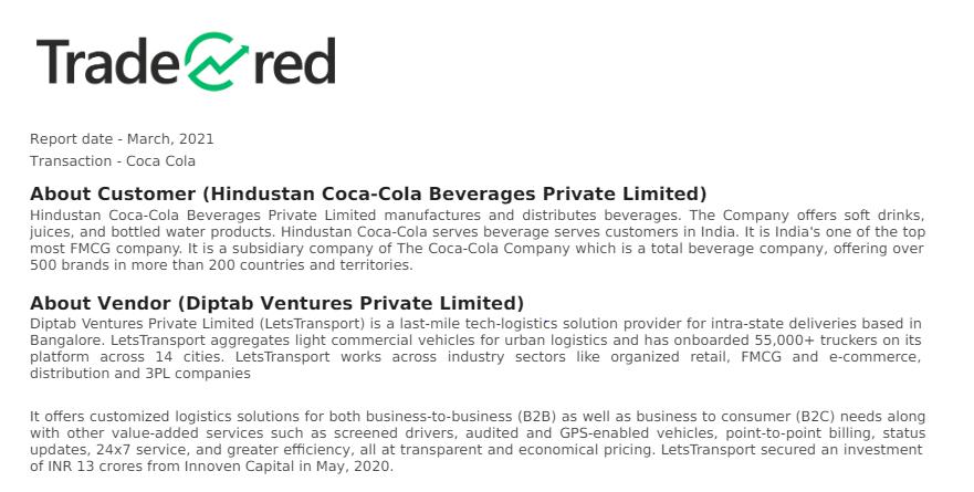 Tradecred Coca Cola