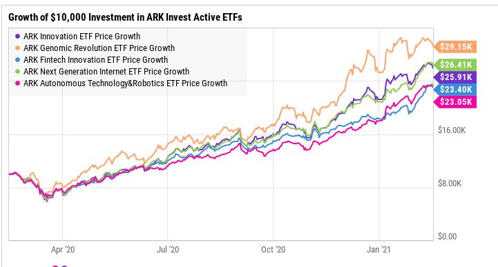 ARK Investment performance