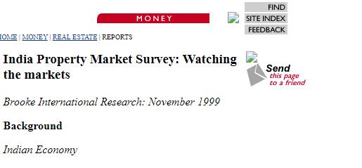 1999 Real Estate Price India
