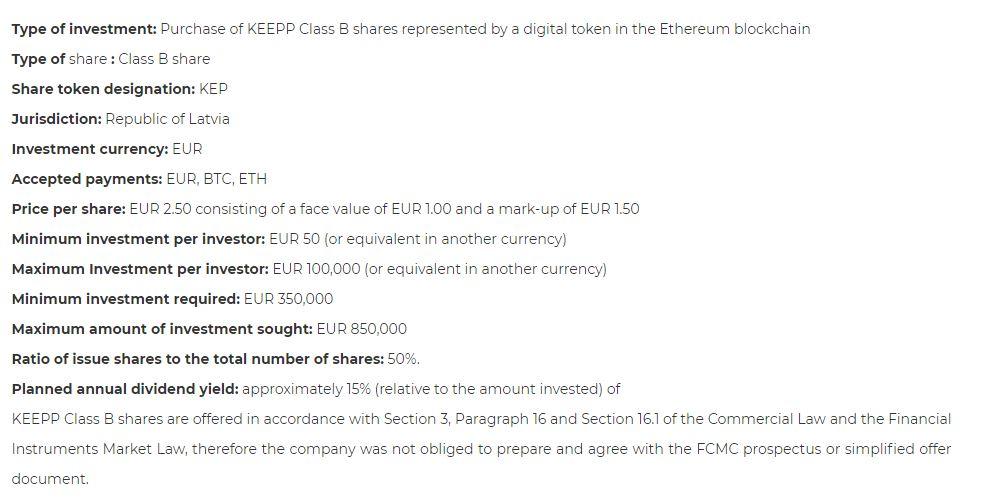 KEEPP project details